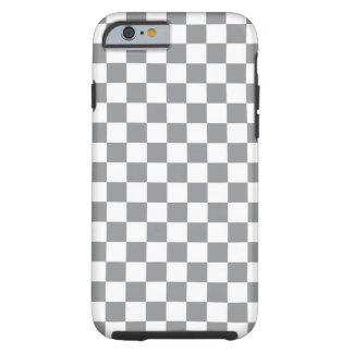 Grey Checkerboard Tough iPhone 6 Case