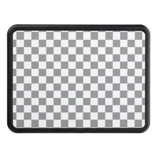 Grey Checkerboard Trailer Hitch Cover
