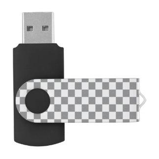 Grey Checkerboard USB Flash Drive