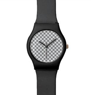 Grey Checkerboard Watch