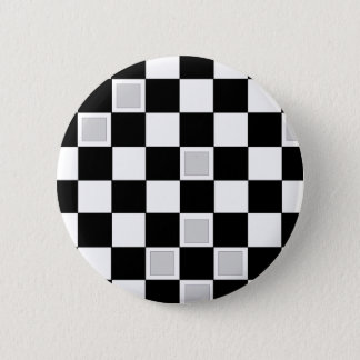 Grey Checkers 2 Inch Round Button
