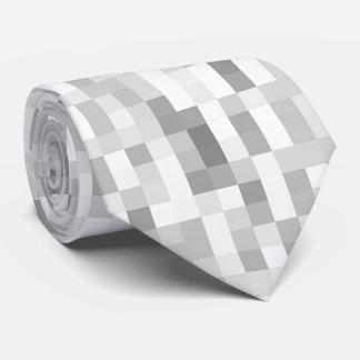 Grey Chequered Tie
