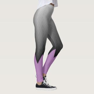 Grey chevron lavender purple customizable color leggings