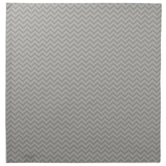 Grey Chevron Pattern Napkin