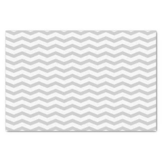 Grey chevron pattern wedding gift tissue paper