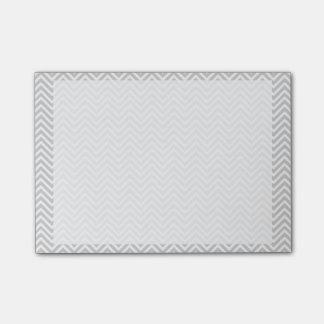 Grey chevron post-it notes