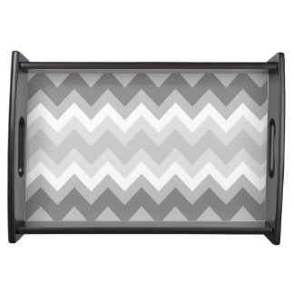 Grey Chevron Serving Tray