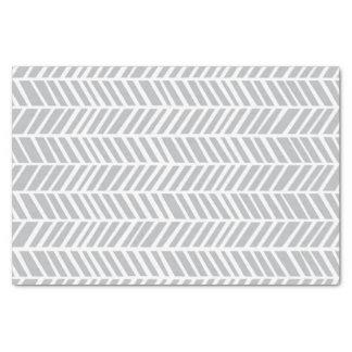 Grey Chevron Tissue Paper