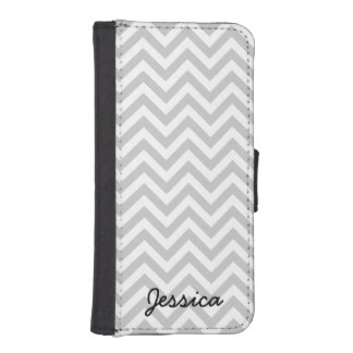 Grey chevron wallet case for iPhone and Samsung iPhone 5 Wallets