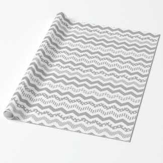 Grey Chevron with a twist Wrapping Paper
