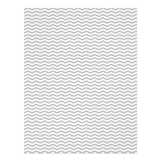 Grey Chevron/Zig Zag Scrapbook Paper Personalized Flyer