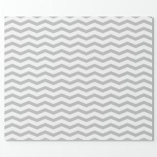 Grey chevron zigzag pattern wrappingpaper