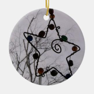 Grey Christmas Ceramic Ornament