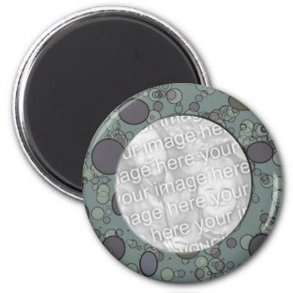 grey circle frame template magnet