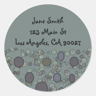 grey circles address labels round sticker