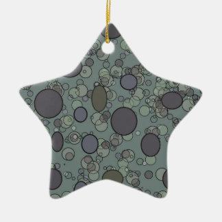 grey circles ceramic star ornament