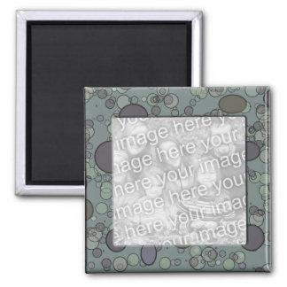 grey circles frame template magnet