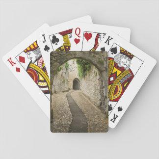 Grey Cobblestone street, France Poker Deck