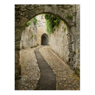 Grey Cobblestone street, France Postcard