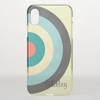Grey Combination Bullseye by Shirley Taylor iPhone X Case