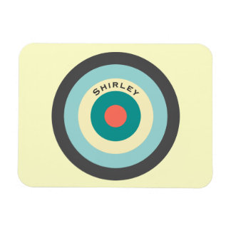 Grey Combination Bullseye by Shirley Taylor Magnet