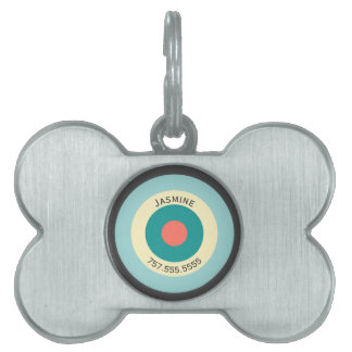Grey Combination Bullseye by Shirley Taylor Pet ID Tag