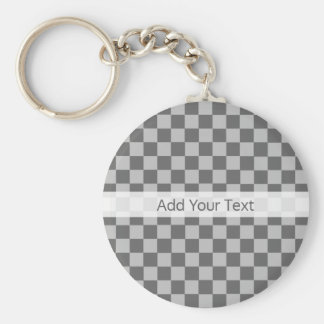 Grey Combination Checkerboard by Shirley Taylor Basic Round Button Keychain