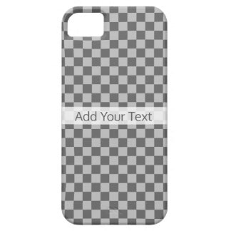 Grey Combination Checkerboard by Shirley Taylor Case For The iPhone 5
