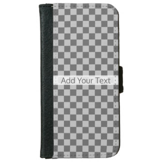 Grey Combination Checkerboard by Shirley Taylor iPhone 6 Wallet Case