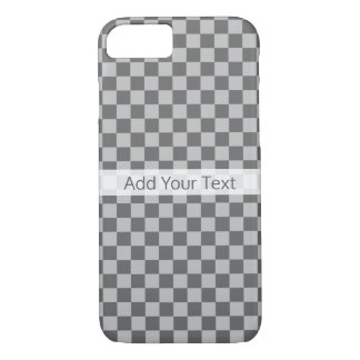 Grey Combination Checkerboard by Shirley Taylor iPhone 8/7 Case