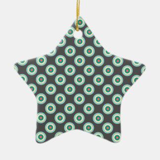 Grey Combination Circles Ornaments