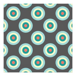 Grey Combination Circles Photo Print