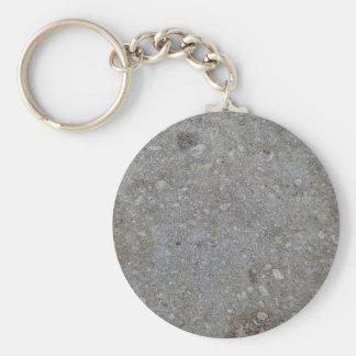 Grey Concrete Background Texture Basic Round Button Keychain