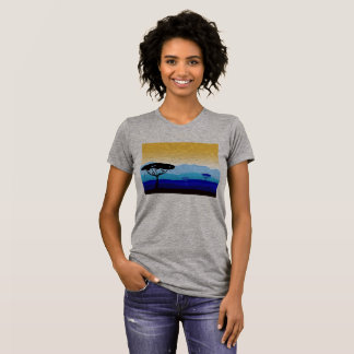 Grey creative t-shirt with Baobabs