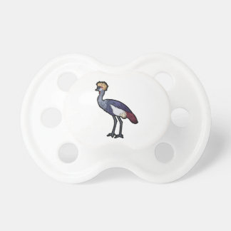 Grey Crown Crane Pacifier