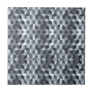 Grey cubes, geometric shapes, abstract design tiles