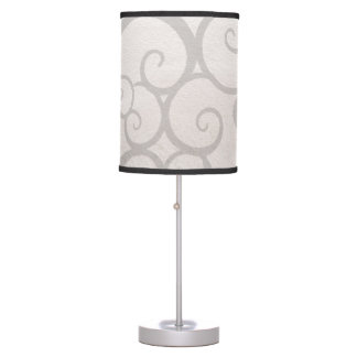 Grey curls lines desk lamp