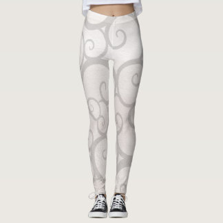 Grey curls lines leggings