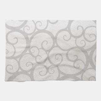Grey curls lines towel