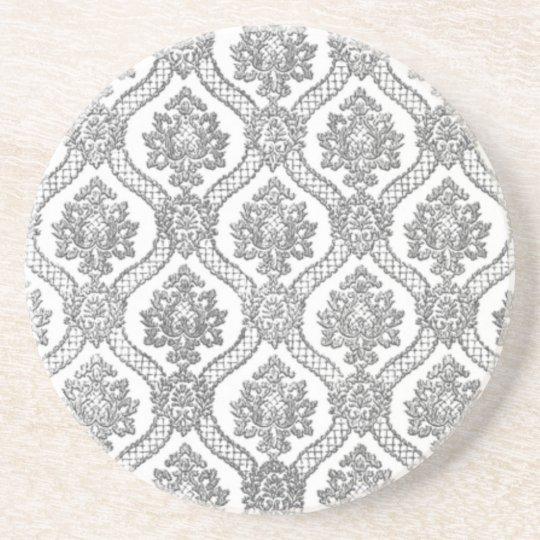 Grey Damask Coaster