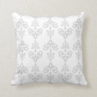Grey Damask Design Cushion
