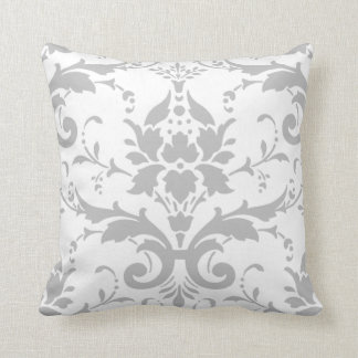 Grey Damask Design Pillow