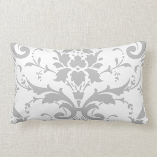 Grey Damask Design Rectangle Pillow