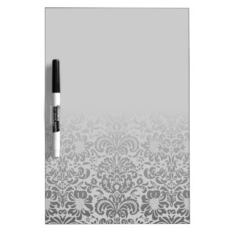 Grey Damask Dry Erase Board