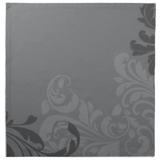Grey Damask Napkin