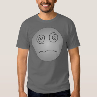 Grey Dazed and Confused Smiley Tshirt