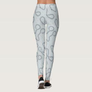 Grey design leggings