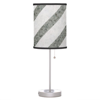 Grey Diagonal Lines Pattern Desk Lamps