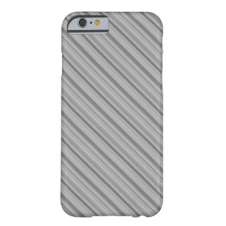 Grey diagonal stripes barely there iPhone 6 case