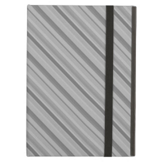 Grey diagonal stripes iPad air case